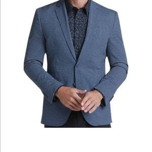 Joseph Abboud Blue Linen Tailored Fit Dress Jacket